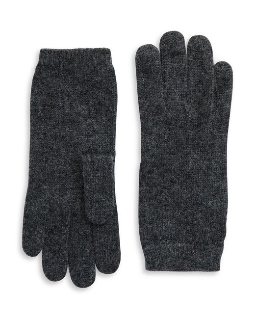 Portolano - Gray Luxe Knit Cashmere Blend Gloves - Lyst