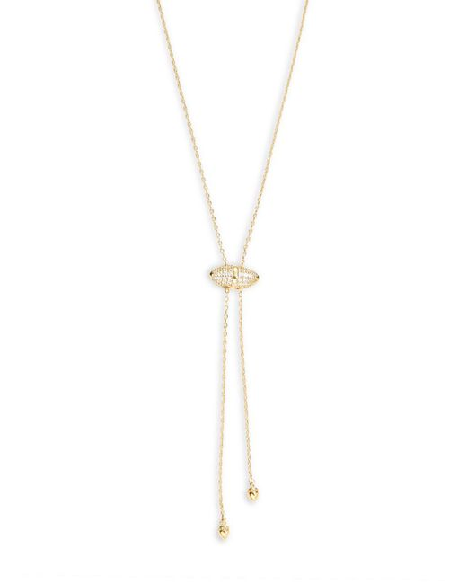 Tai - Metallic Crystal Accented Lariat Necklace - Lyst