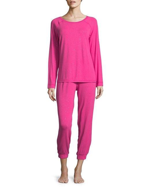 Lord & Taylor - Pink Metallic Pajamas - Lyst