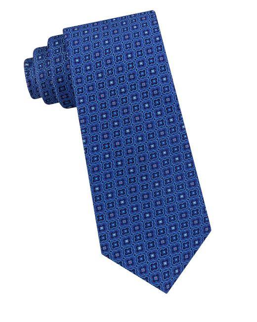 Ted Baker - Blue Floral Frame Silk Tie for Men - Lyst