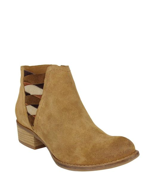 Naughty Monkey - Natural The Bridge Suede Booties - Lyst