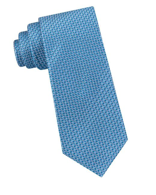 Ted Baker - Blue Textured Silk Tie for Men - Lyst