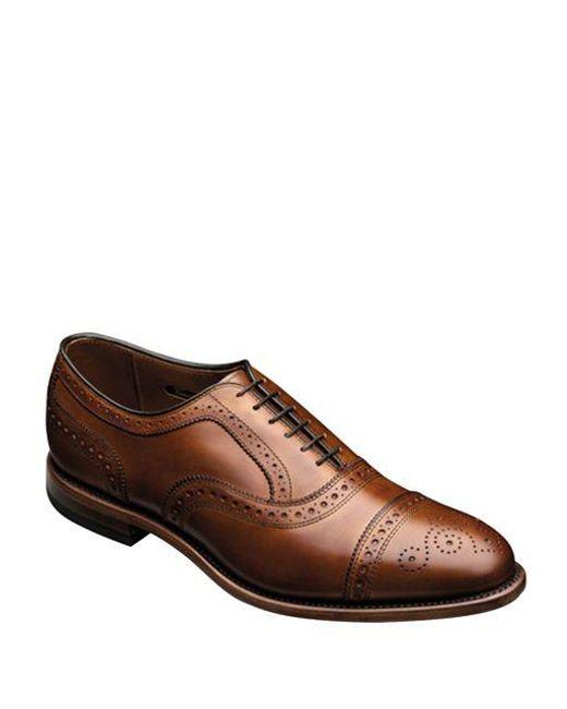 Allen Edmonds - Brown Strand Leather Brogue Oxfords for Men - Lyst