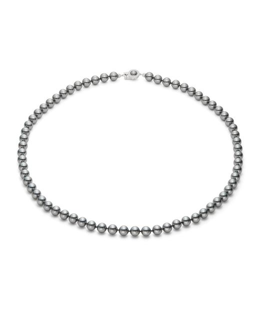 Nadri - Metallic 8mm Simulated Faux Pearl Strand Necklace- 22 In. - Lyst