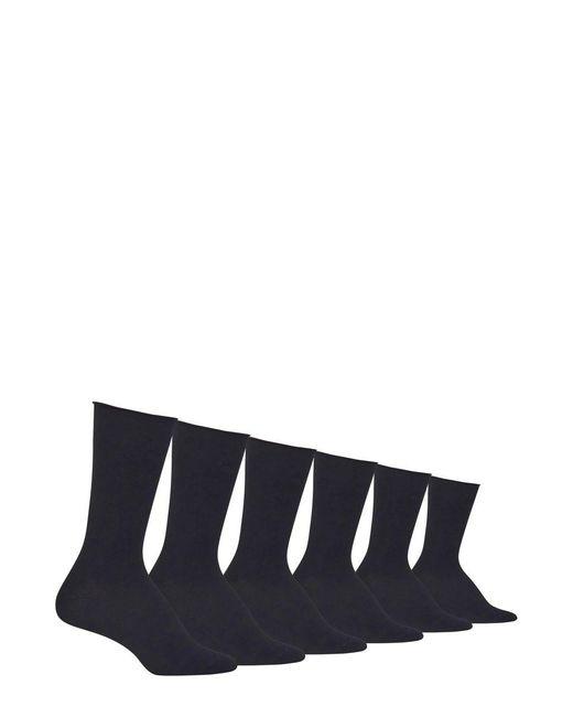 Ralph Lauren - Black 6-pack Roll Top Polo Trouser Socks for Men - Lyst