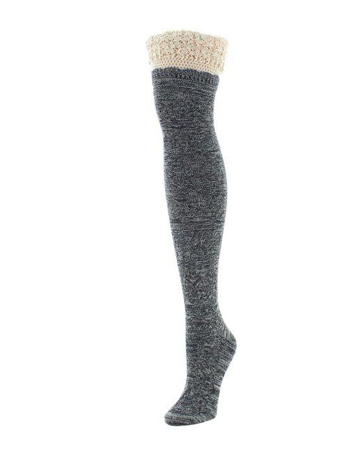 Memoi - Black Cotton Blend Over-the-knee Socks - Lyst