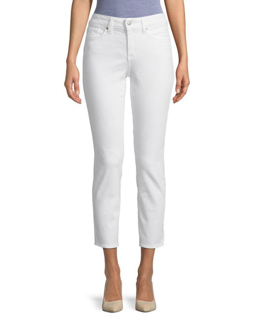 NYDJ - White High-rise Ankle Jeans - Lyst