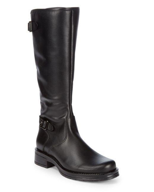 La Canadienne Black Gabriel Waterproof Mid-calf Leather Boots