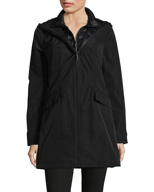 Laundry by Shelli Segal - Black Dual Zip Anorak - Lyst