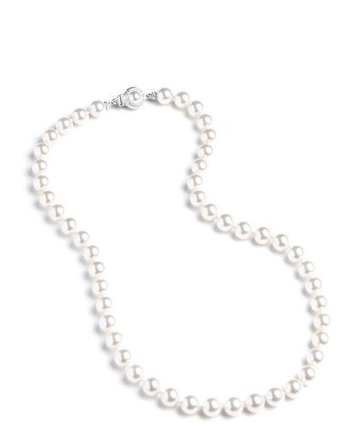 Nadri White Knotted Faux Pearl Necklace