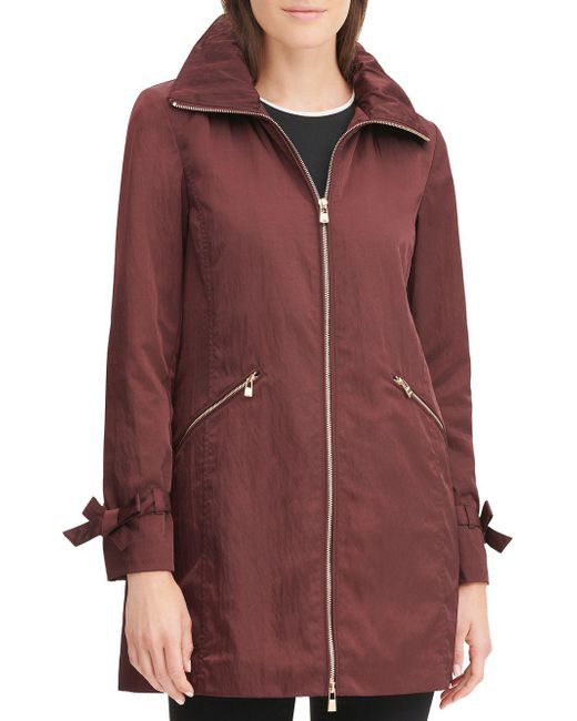Karl Lagerfeld - Red Packable A-line Rain Jacket - Lyst