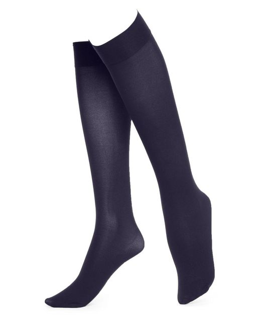Hue - Blue Soft Opaque Knee High Socks - Lyst