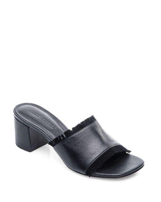 Bernardo | Black Blossom Block Heel Slides | Lyst