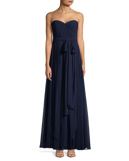 Jenny Yoo - Blue Mira Strapless Floor-length Dress - Lyst
