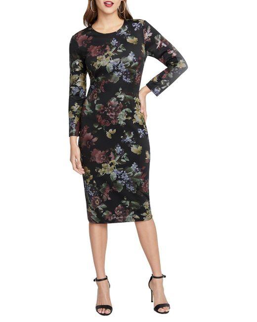 094c928b8b RACHEL Rachel Roy Cece Floral Scuba Dress in Black - Save 64% - Lyst