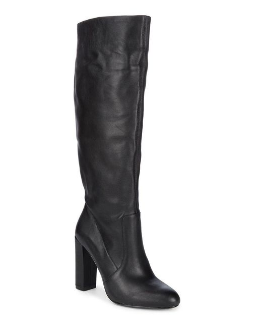 Steve Madden - Black Leather Knee-high Boots - Lyst