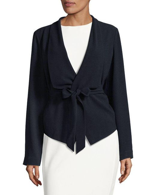 Elie Tahari - Blue Jenn Self-tie Jacket - Lyst
