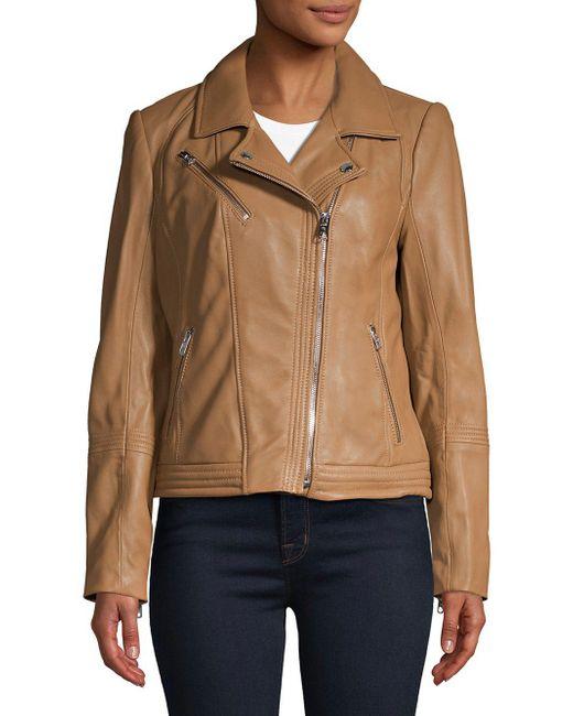 MICHAEL Michael Kors - Multicolor Asymmetric Moto Jacket - Lyst