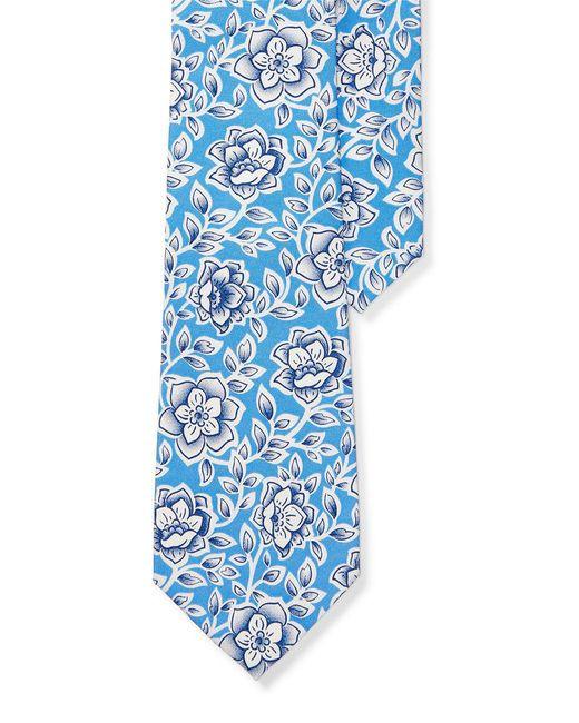 Lauren by Ralph Lauren | Blue Floral Silk Tie for Men | Lyst