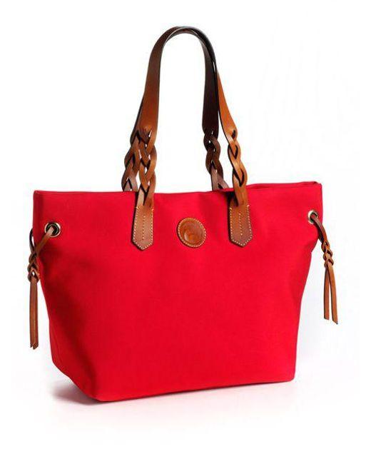Dooney & Bourke   Red Nylon Shopper   Lyst