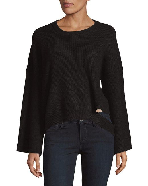 Lord & Taylor - Black Dropped Wide Sleeve Sweater - Lyst