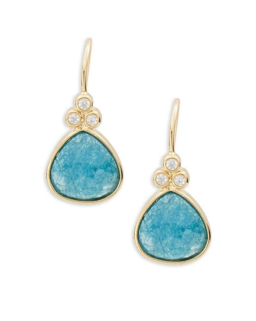 Tai - Blue Faceted Stone Drop Earrings - Lyst