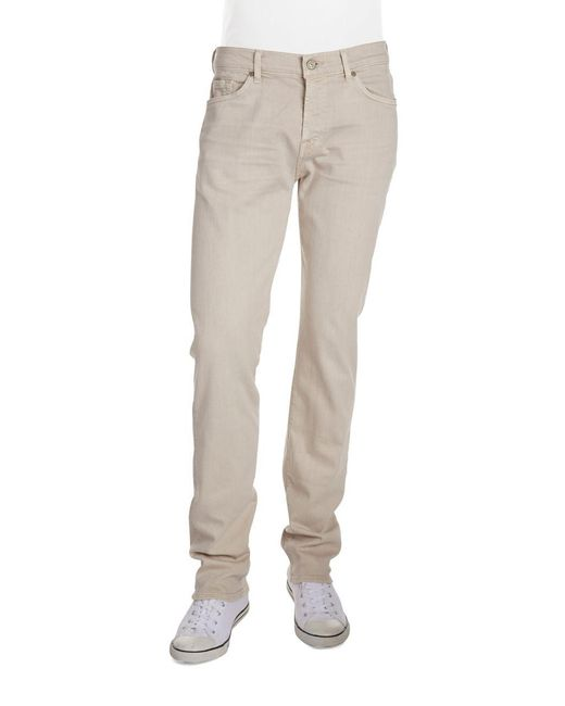 7 For All Mankind - Natural Luxe Performance: Slimmy Slim Straight-leg Jeans for Men - Lyst