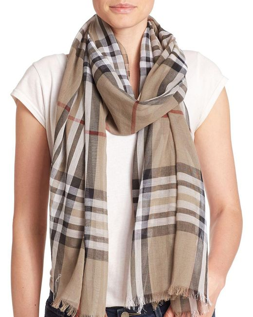 Lord & Taylor - Multicolor Cotton Plaid Scarf - Lyst