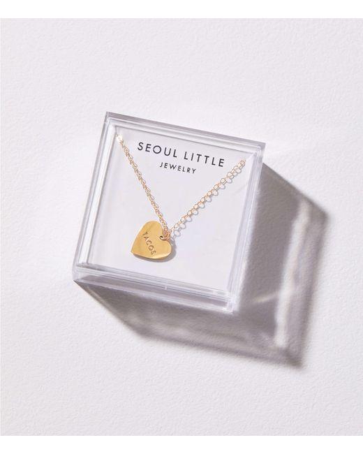 Lou & Grey - Metallic Seoul Little My Heart Belongs To Tacos Necklace - Lyst