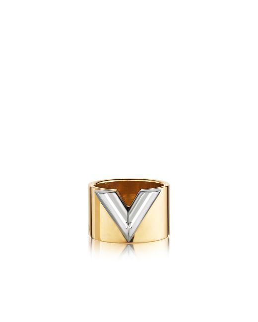 Louis Vuitton | Metallic Essential V Ring | Lyst