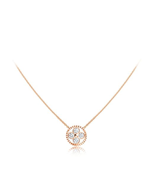 Louis Vuitton | Diamond Blossom Bb Pendant, Pink Gold And Diamonds | Lyst