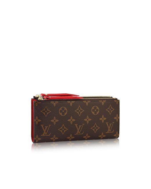 Louis Vuitton   Brown Adele Wallet   Lyst