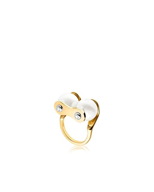 Louis Vuitton | Metallic Lv Speedy Pearls Ring | Lyst