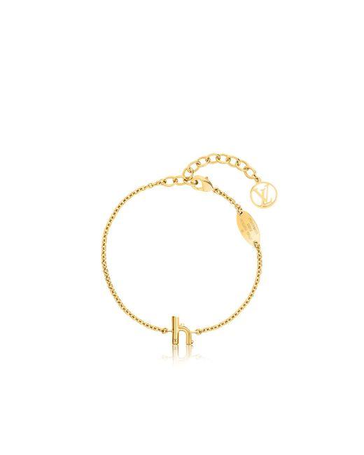 Louis Vuitton | Metallic Lv & Me Bracelet, Letter H | Lyst