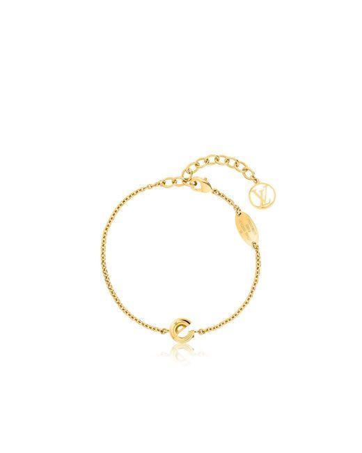 Louis Vuitton   Metallic Lv & Me Bracelet, Letter E   Lyst