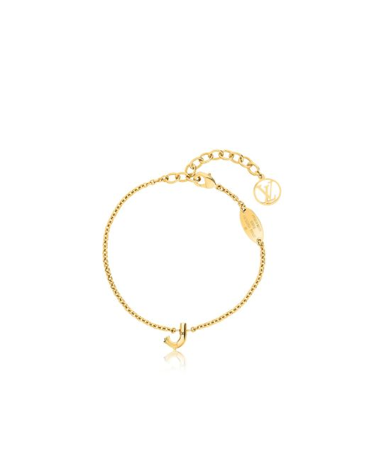 Louis Vuitton   Metallic Lv & Me Bracelet, Letter J   Lyst