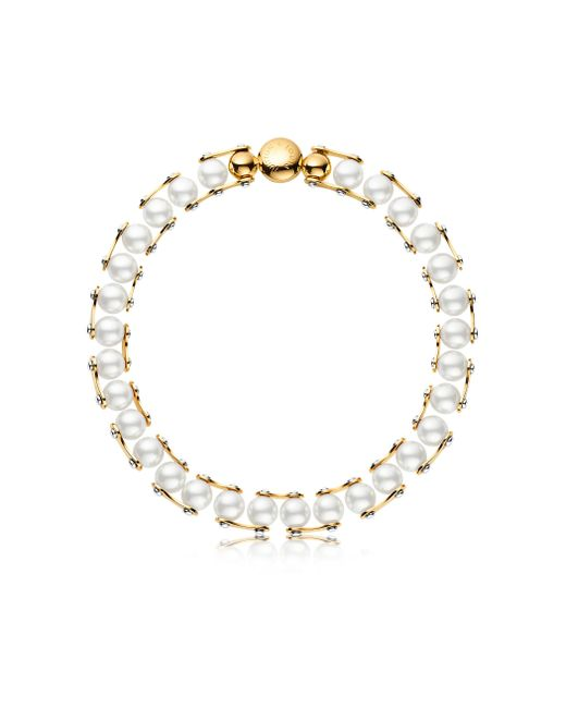 Louis Vuitton | White Lv Speedy Pearls One Rank Necklace | Lyst