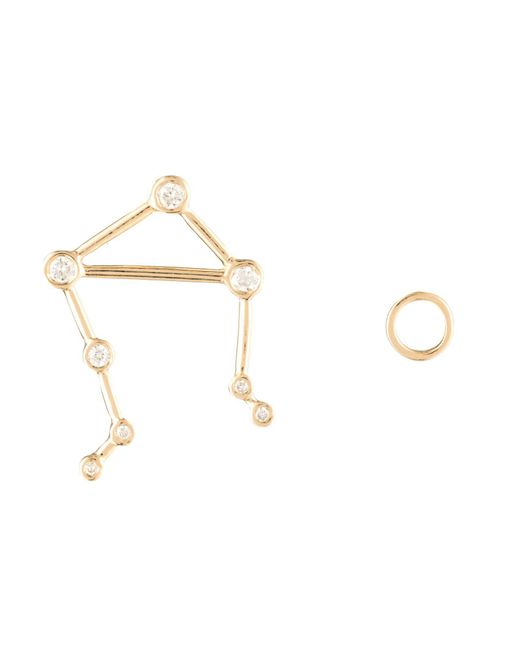 Lulu Frost - Multicolor Zodiacs 14k & Diamond Libra + Air Stud Set - Lyst