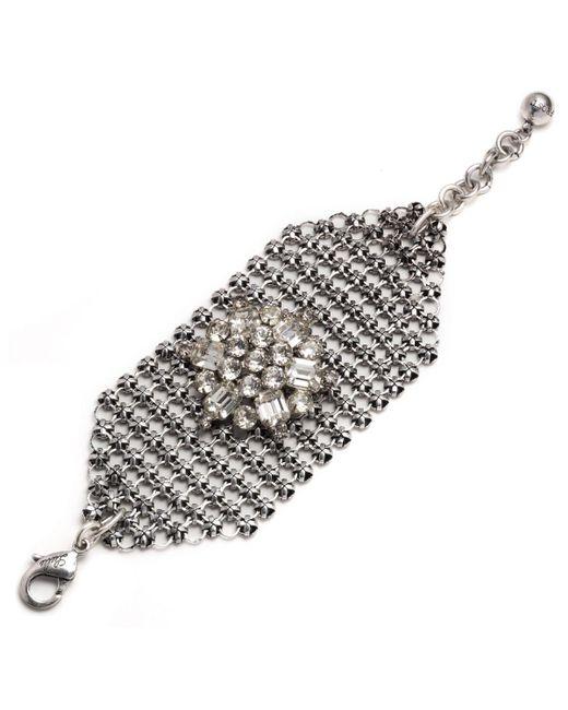Lulu Frost | Metallic Mesh Bracelet - Silver | Lyst