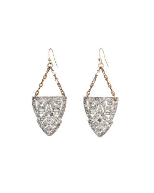 Lulu Frost | Metallic *vintage* Deco Earring 2 | Lyst