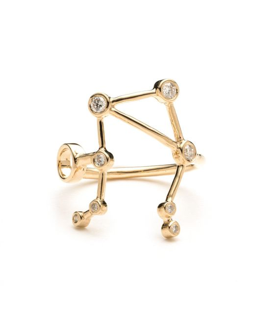 Lulu Frost - Metallic Zodiacs 14k Libra + Air Ring - Lyst