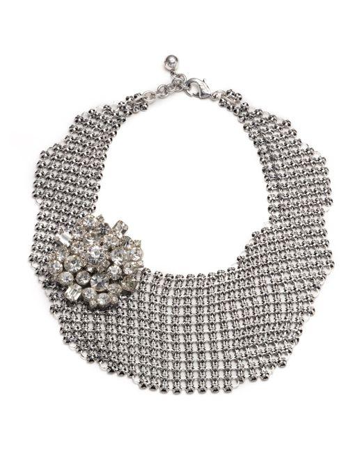 Lulu Frost | Multicolor Single Mesh Necklace - Silver | Lyst
