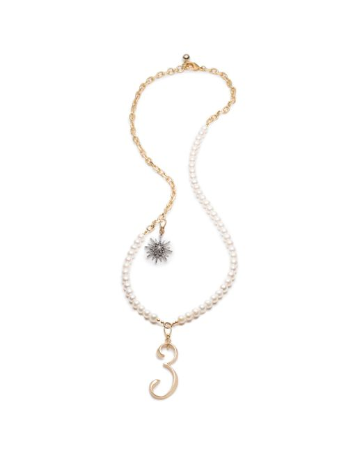 Lulu Frost - Multicolor Plaza White Pearl Charm Necklace - Lyst