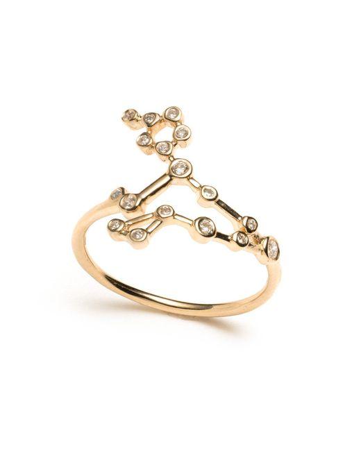 Lulu Frost - Metallic Zodiacs 14k & Diamond Pisces + Water Ring - Lyst