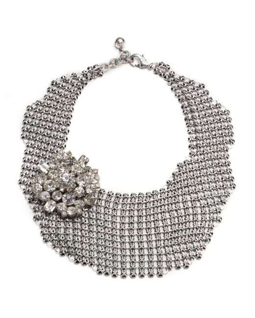 Lulu Frost | Metallic Single Mesh Necklace - Silver | Lyst
