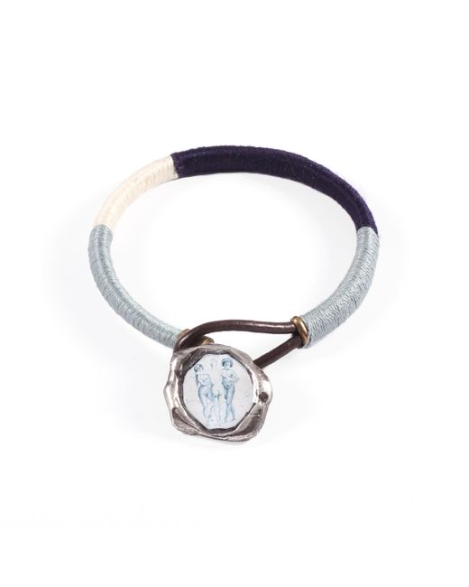 Lulu Frost | Multicolor George Frost G. Frost Tri-nation Wrapped Wax Seal Bracelet for Men | Lyst