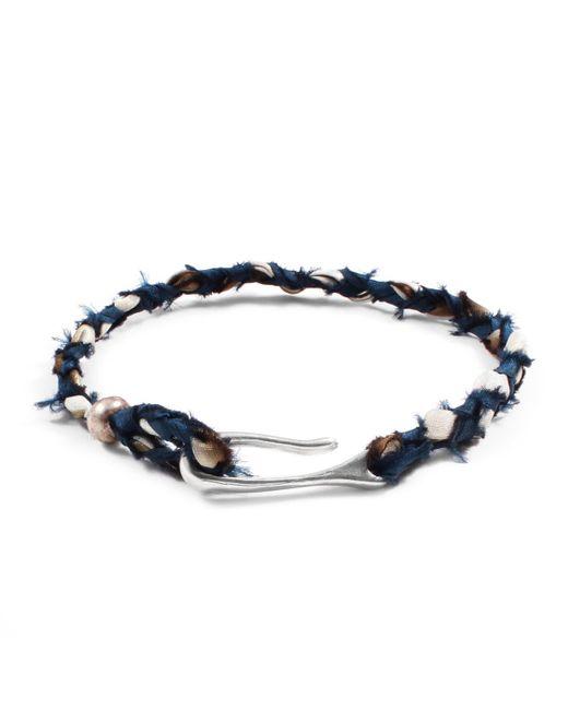 Lulu Frost | Blue George Frost Taros Bracelet - Teal/cream for Men | Lyst
