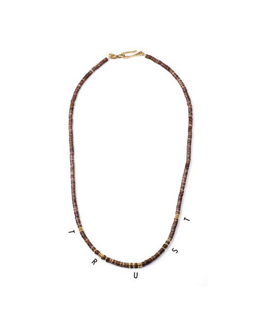 Lulu Frost | Metallic George Frost G. Frost Morse Necklace - Trust | Lyst