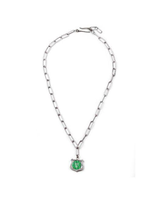 Lulu Frost | Metallic George Frost G. Frost Bullet Shield Necklace for Men | Lyst