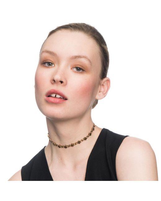 Lulu Frost | Metallic Diamond Chain Choker | Lyst